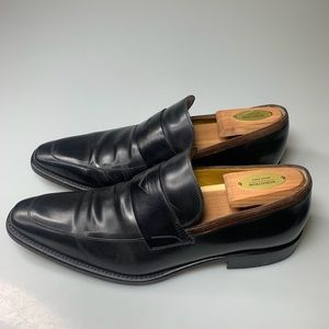 Hugo Boss Leather Loafers Slip On Dress Shoes